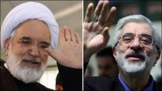 میرحسین موسوي او مهدي کروبي