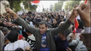 جانب من مظاهرات القاهرة