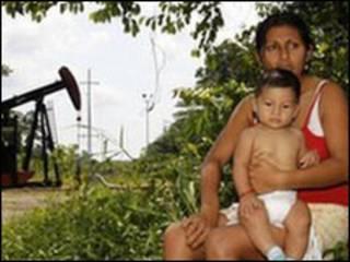 Người dân, bà Maria Eugenia Briceno sống ở vùng bị ảnh hưởng bởi ô nhiễm môi trường