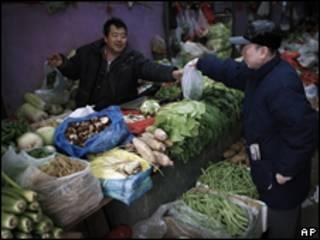 北京某蔬菜市場(15/02/2011)