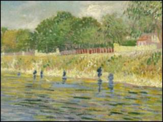 Ribera del río Sena, de Van Gogh