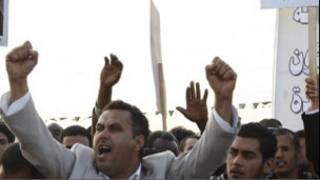 Demonstran di Libia