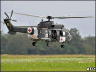 Helicóptero brasileiro usado no resgate