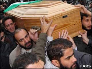 مراسم تشییع جنازه محمد مختاری