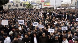 متظاهرون اكراد