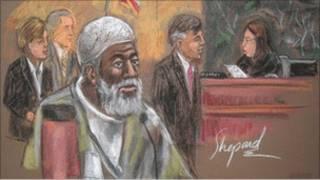 رسم تقريبي لعبد القدير ودفريتاس في المحكمة
