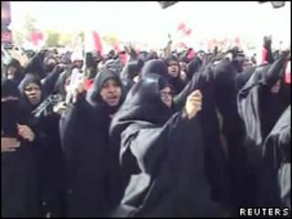 參加葬禮的巴林婦女