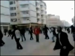 Cảnh người dân phản đối tại Lybia