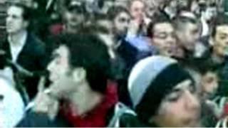 سوريون يتظاهرون ضد ضد الشرطة لشاب سوري في دمشق