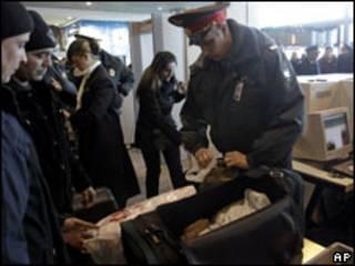 Проверка багажа в Домодедово