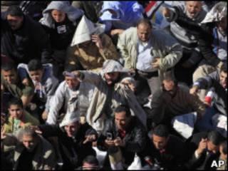 巴林首都麥納麥珍珠廣場上的示威者