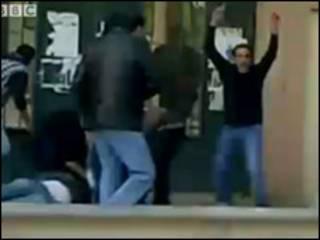 Wasu masu zanga-zanga a Benghazi