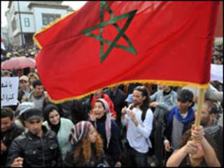 Masu zanga-zanga a Morocco