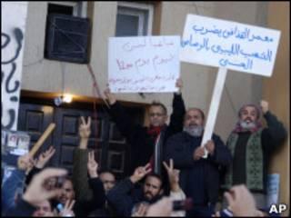 Manifestantes protestam em Benghazi