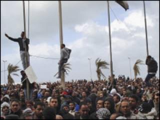 Masu zanga-zanga a Libya