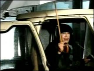Đoạn phim ông Gaddafi xuất hiện trên truyền hình nhà nước