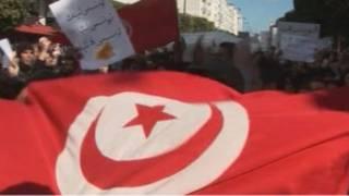 Массовые протесты в Тунисе