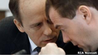 Президент Медведев и глава ФСБ