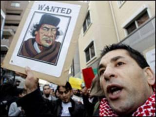 Người biểu tình chống chính phủ ở Libya