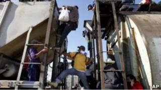Мигрант в Мексике
