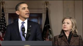 Барак Обама і Хіларі Клінтон