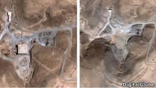 موقع الكبر السوري قبل وبعد التدمير