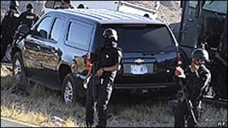 Полицейский патруль в Мексике