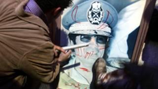 صورة للقذافي