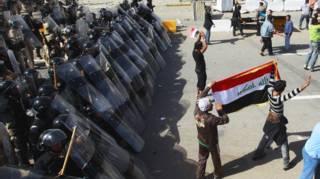 تظاهرات مخالفان دولت در عراق