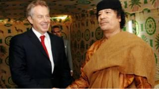 القذافي وبلير