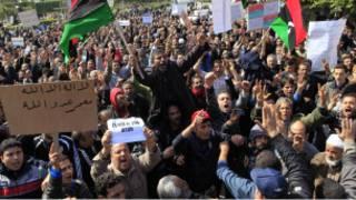 محتجون في ليبيا