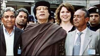 Каддафі з українською медсестрою