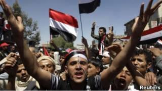 aksi protest di yaman