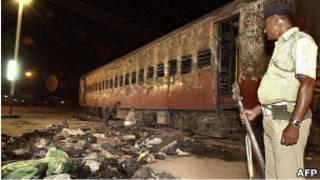 حادث قطار بولاية جوجارت غربي الهند