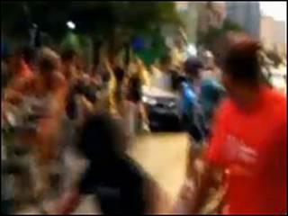 Ciclistas sendo atropelados