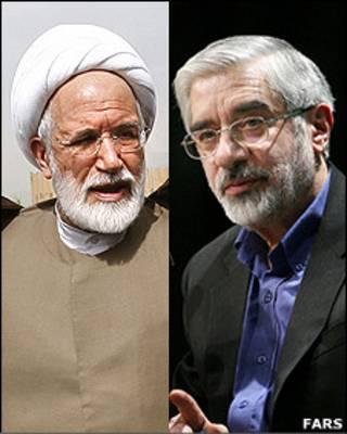 میرحسین موسوی، مهدی کروبی