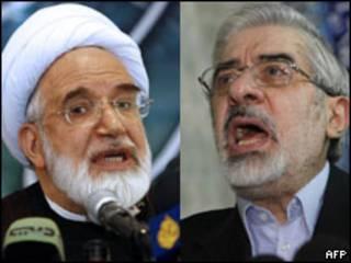 Mehdi Karroubi e Mir Hossein Moussavi