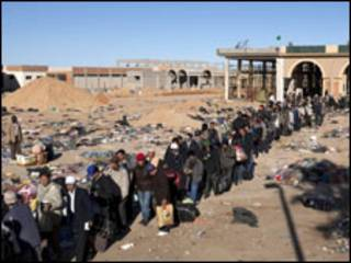 Wasu jamaa dake ficewa daga Libya