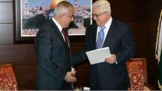 محمود عباس وسلام فياض