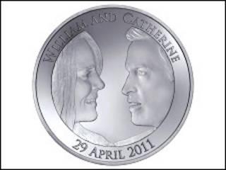 威廉王子與凱特婚禮紀念幣