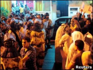 تظاهرکنندگان در عربستان