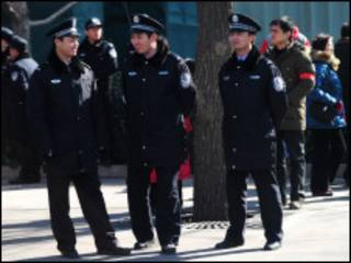 Policiais chineses