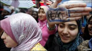 تظاهرات مسلمانان در نیویورک