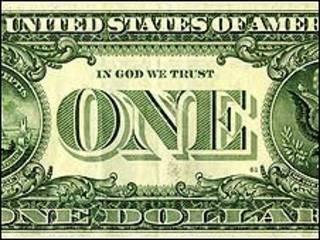 Reverso de un dólar estadounidense.