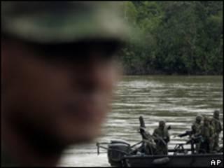 Foto de arquivo do Exército colombiano