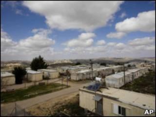 Assentamento israelense na Cisjordânia.