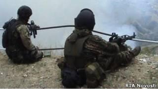 Сотрудники ФСБ во время спецоперации на Северном Кавказе