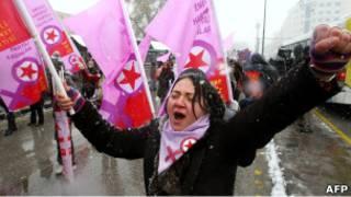 مسيرة في أنقرة بمناسبة اليوم العالمي للمرأة