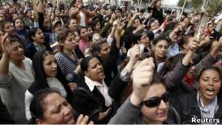 Демонстрация коптов в Каире
