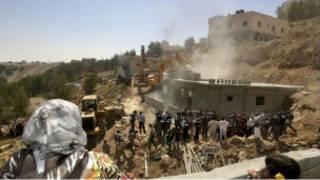 هدم منازل لفلسطينيين